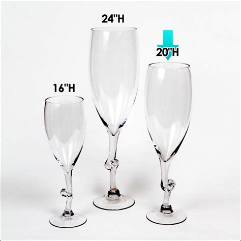 Wine Glass Vases by 9 90 Ea 4 Pcs 20 Quot H Clear Wine Glass Vases Wedding