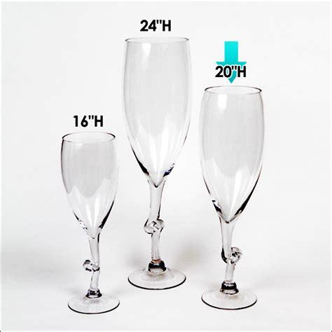 9 90 ea 4 pcs 20 quot h clear wine glass vases wedding
