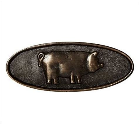 farmhouse pig pull antique bronze finish traditional