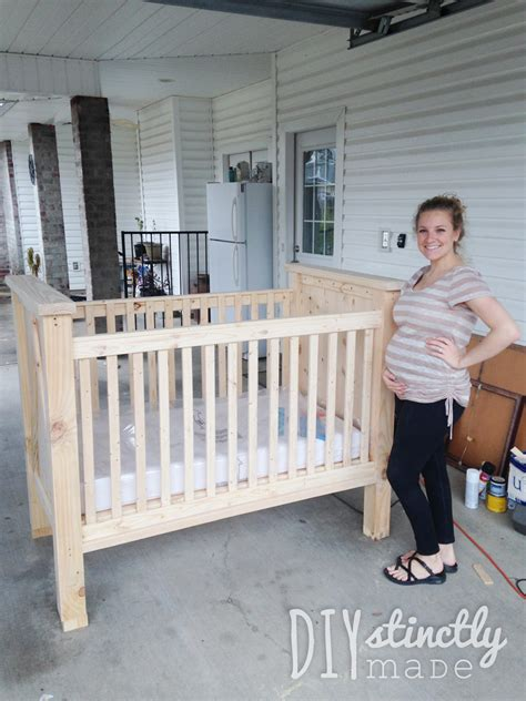 how to make a baby crib diy crib diystinctly made