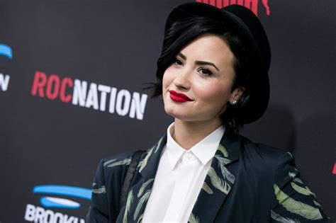 Is Demi Nation by Demi Lovato Roc Nation Grammy 2015 Brunch In Beverly