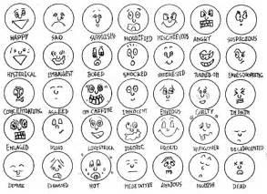 Emotions faces cartoon emotion faces pictures strick
