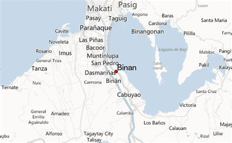 san jose binan laguna map binan location guide