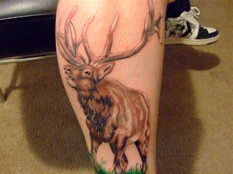 darkside tattoos animal elk calf darkside elk
