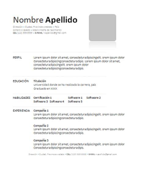 curriculum vitae formato editable formatos de curriculum vitae en word y gratis para descargar