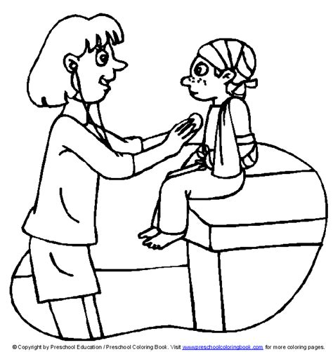 preschool coloring pages nurse free nurse hat template coloring pages