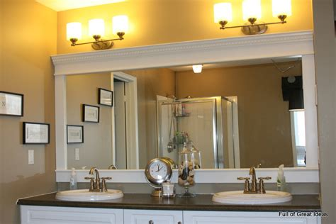 bathroom builder of great ideas framing a builder grade mirror that is not between two walls