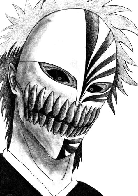 bleach tattoo designs kurosaki ichigo hollow mask shinigami anime