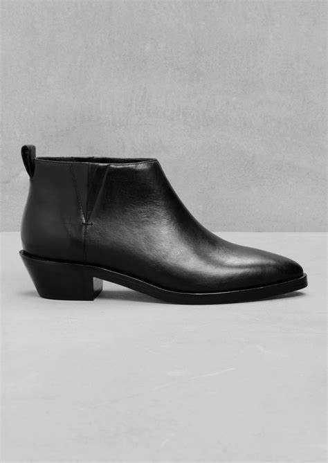 other stories low cut ankle boots in black