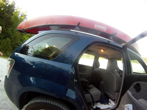 row boat roof rack putting canoe on top of vehicle youtube
