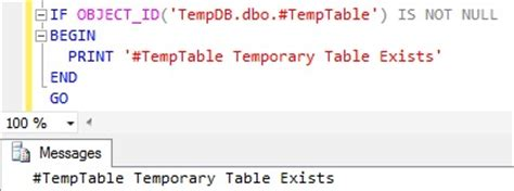 sql check if temp table exists how to check if temp table exists in sql server