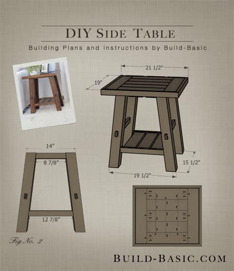 build  diy side table build basic