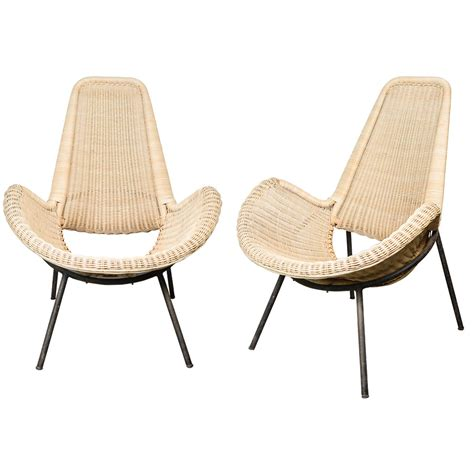 1950s armchairs great pair of 1950s rattan armchairs at 1stdibs