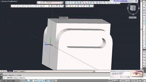 adan087 tutorials autocad 3d drawing 4