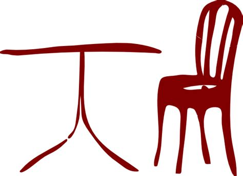 table with chairs clipart table chair clip at clker vector clip