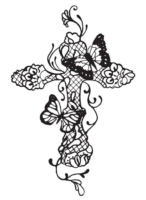 butterfly cross tattoos concept butterflies cross lace cross modern