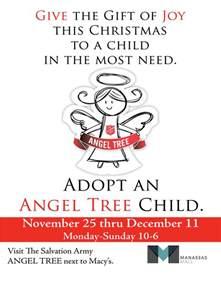 salvation army angel tree manassas mall