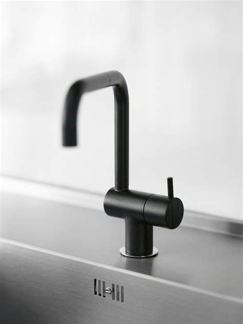 vola bath and kitchen faucets designed by arne jacobsen in the 1960s still available in 19 high low black kitchen faucet remodelista