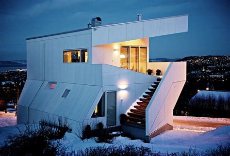 creative house geometric norwegian house with creative interior fixtures modern house designs