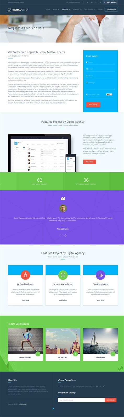 wordpress templates for advertising agencies digital agency seo marketing wordpress theme by