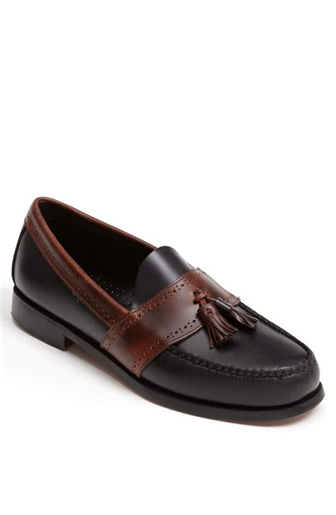 bass loafers g h bass co colbert tassel loafer in black for