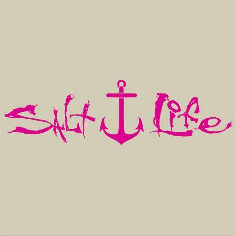 salt life salt life signature anchor decals j h tackle