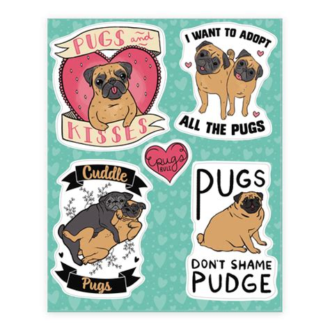 pug stickers human pug stickers accessories sticker