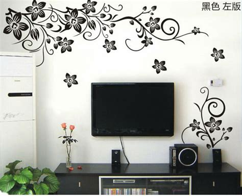 home decor wall decals aliexpress buy vine wall stickers flower wall decal removable pvc home decor
