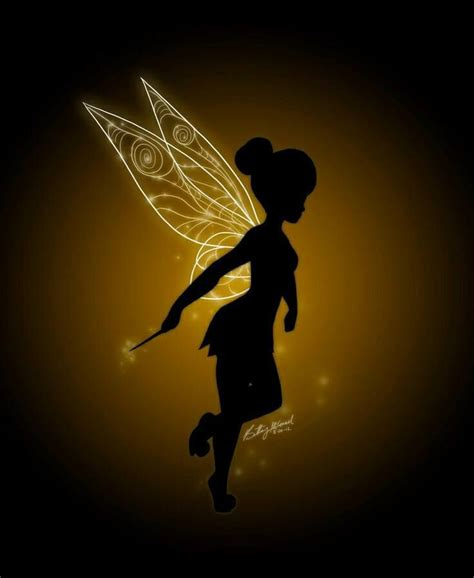 Pixy Line Shadow White tinkerbell silhouette tinker bell