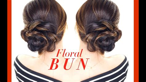 floral side bun hairstyle easy updo hairstyles