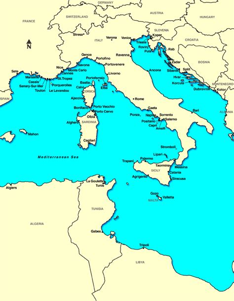 map of mediterranean sea eastern mediterranean cruise ports
