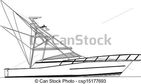 real boat drawing sport fishing boat vector www pixshark images
