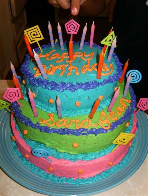 colorful birthday cakes colorful birthday cake cakecentral