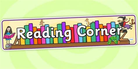 free printable reading banner reading corner display banner reading display banner