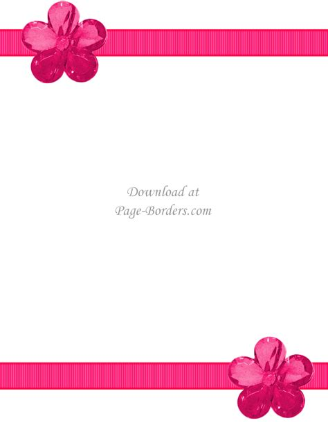 Floral Flowers by Free Flower Border Template