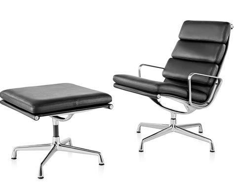 Eames Soft Pad Lounge Chair by Eames 174 Soft Pad Lounge Chair Ottoman Hivemodern