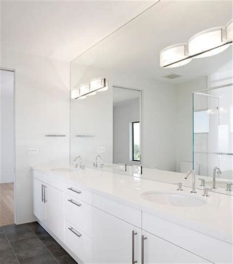 Frameless Mirrors For Bathroom Bathroom Vanity With Wall Frameless Mirror By De Mattei Bathroom Vanity Frameless