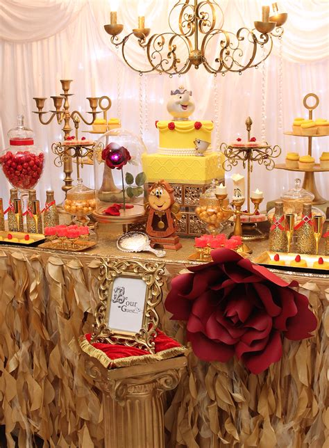 beauty and the beast table decorations beauty and the beast desserts table paper flowers