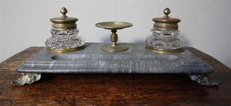 Antiques Atlas Antique Gilt Bronze Marble Desk Set Antique Desk Accessories