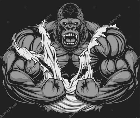 terrible gorilla athlete stock vector 169 andrey makurin