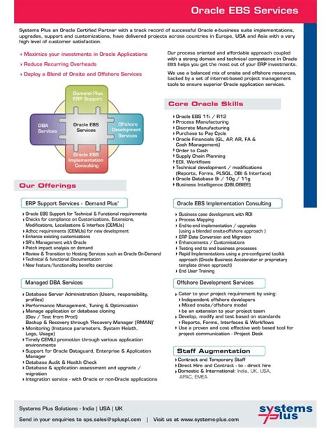 systems plus solutions brochure
