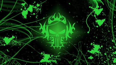 Wallpaper Green Skull | green skull wallpapers wallpaper cave