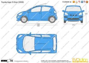 Toyota Aygo Length The Blueprints Vector Drawing Toyota Aygo 5 Door