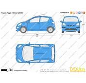 The Blueprintscom  Vector Drawing Toyota Aygo 5 Door