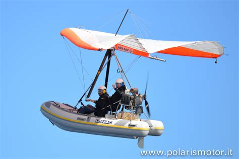 inflatable boat ultralight aircraft flying inflatable boat polaris motor microlight