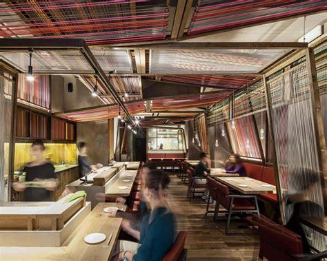 restaurant interior  colourful textile decor
