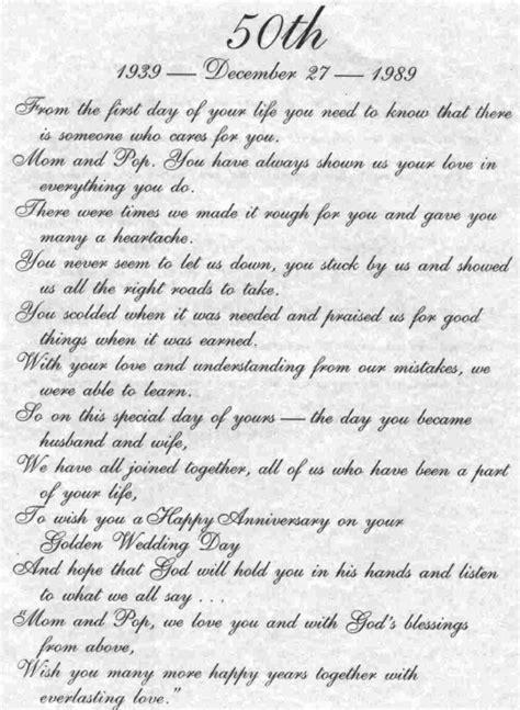 50th wedding anniversary quotes poems 50th wedding anniversary quotes and poems image quotes at