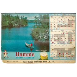 sports page fort dodge breweriana hamm s sports calendar from fort dodge
