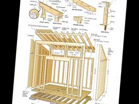 Free 8x12 Shed Plans by Free Shed Plans Woodworking Plans Pdf S
