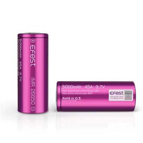 Efest Purple Imr 26650 Li Mn Battery 3500mah 3 7v 64a With Flat Top 26650v1 efest purple 26650 5000mah 45 3 7v li mn high drain flat top sub o kanvape